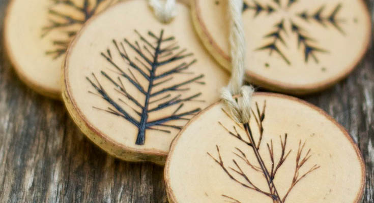 Adornos de Navidad Hecha de Madera