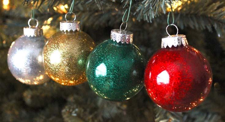 Adornos de Navidad Reluciente