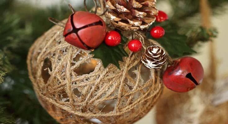 Bola de Guita Ornamento de Navidad