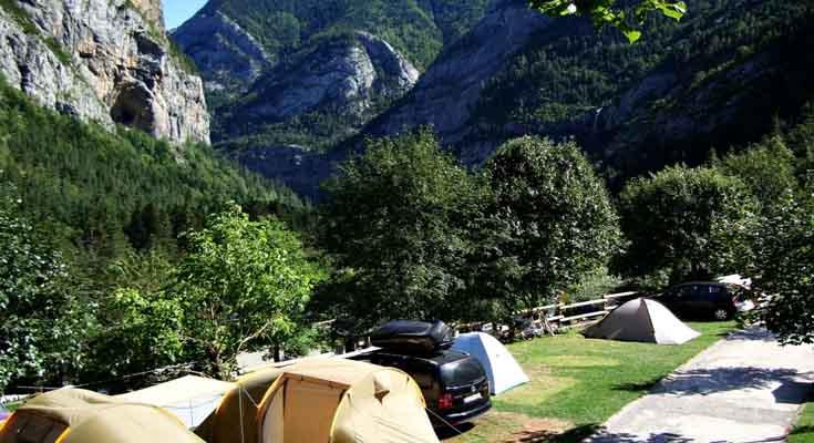 Camping Valle de Bujaruelo en España