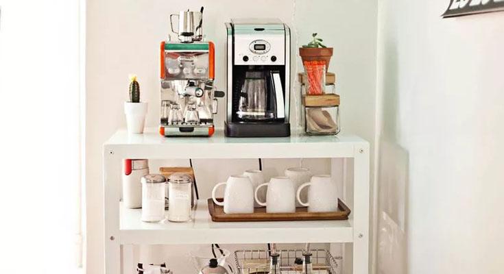Carrito de cafe creativo