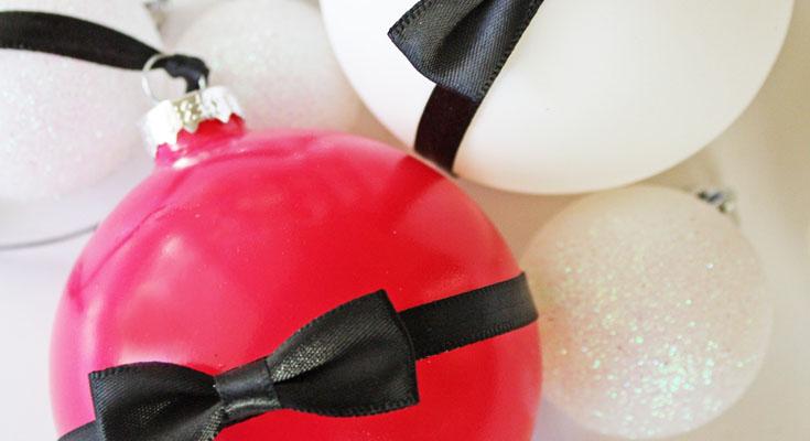 Kate Spade Inspirado DIY adornos de Navidad