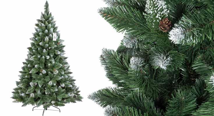 FairyTrees Artificial Árbol de Navidad Pino