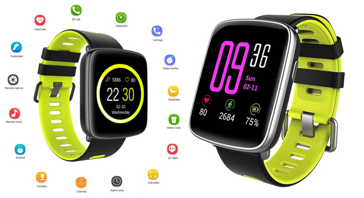 Willful Smartwatch con Pulsómetro,Impermeable IP68 Reloj Inteligente