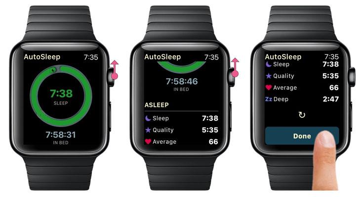 AutoSleep Smartwatch Apps para Apple