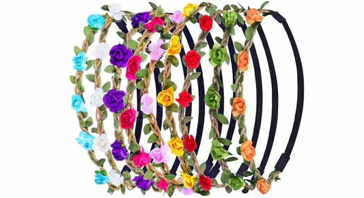 Diadema de Flores de Multicolor Corona de Pelo