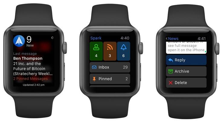 Spark Smartwatch Apps para Apple
