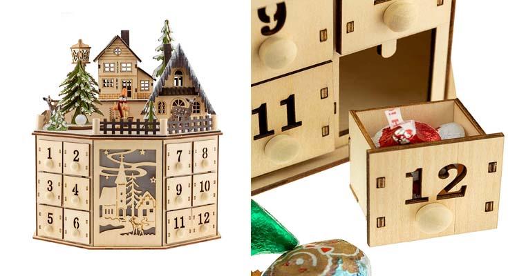 Clever Creations - Calendario de Adviento con 24 cajoncitos