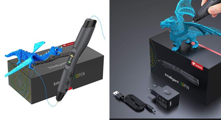 Pluma de Impresión 3D, Tecboss Pluma 3D con Pantalla LCD