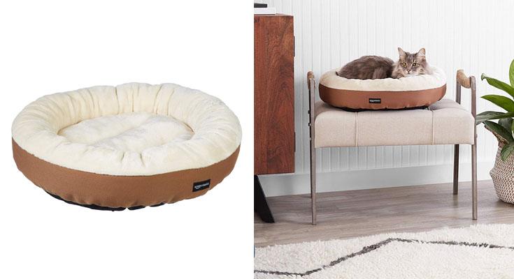 AmazonBasics – Cama redonda para mascotas