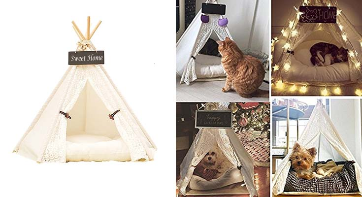 Casa Gato Tienda Perro Lavable Cama Gato de Lona