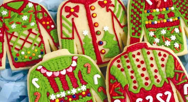 Comida para una Fiesta Sueter Feo Navidad