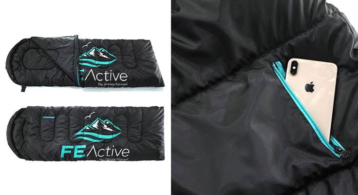 FE Active - Saco de Dormir Individual Resistente al Agua