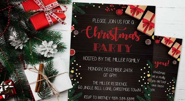 Las invitaciones de Fiesta Sueter Feo Navidad