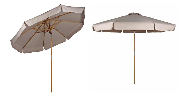 Sekey sombrilla Parasol de Madera crudo