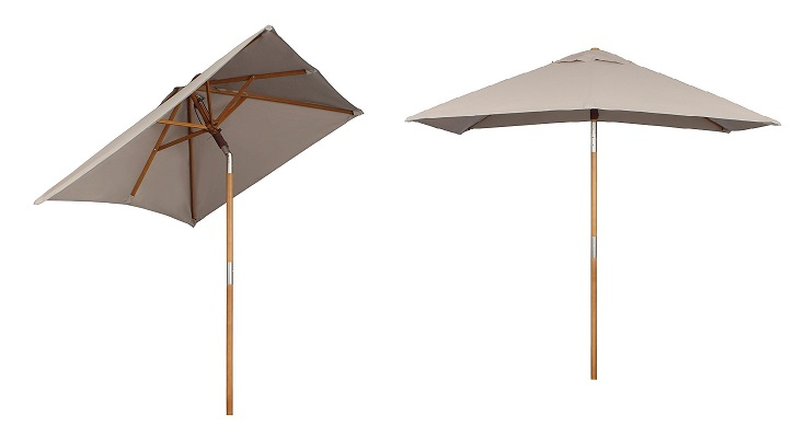 Sekey sombrilla Parasol de Madera